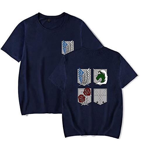 SLAYWZB Unisex Anime Cosplay Attack on Titan T-Shirt Maglietta Moda Manica Corta Tee Maglia Shirt Camicia Camicetta Tops per Uomo Donna
