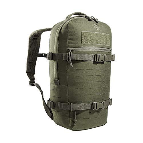 Tasmanian Tiger TT Modular Daypack L Molle-kompatibler, Ergonomischer Tages-Rucksack mit Kompressionsriemen, Trinksystem-Vorbereitung, 18 Liter (Oliv)