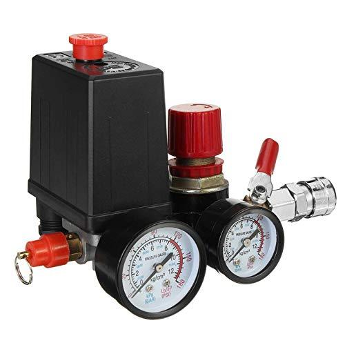 Válvula de control de la bomba del interruptor de la bomba de la bomba del compresor de aire 240V con los indicadores de conector rápido 90-120 psi
