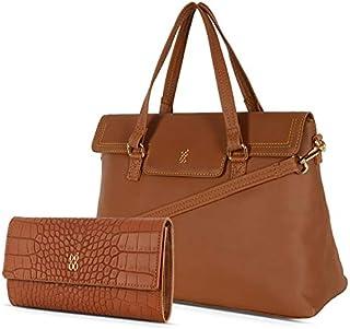 Baggit Women's Handbag with Wallet (Tan) (Set of 2)
