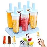 JIASHA 6 Eisformen Popsicle Formen Set. DIY hausgemachte kreative EisformenEIS am Stiel Schimmel Set mit Silikontrchter Mini Eisform für Kinder, Baby, Erwachsene Mini Kühlschrank