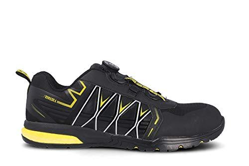Zapato PAREDES Seguridad Jerez - Color Negro - Cierre Boa (Numeric_44)
