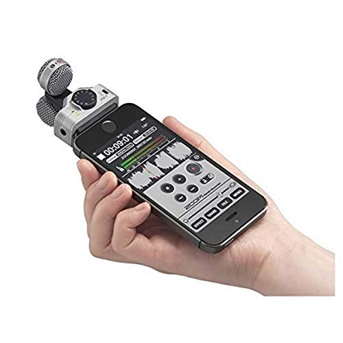 Zoom iQ7 Stereo Mid-Side Microphone for iPhone/iPad, Rotatable Capsule for Alignment with iOS Camera, for Recording Audio for Music, Videos, Interviews, and More