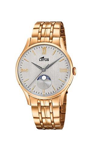 Lotus Watches Reloj Fase Lunar para Hombre de Cuarzo con Correa en Acero Inoxidable 18426/1