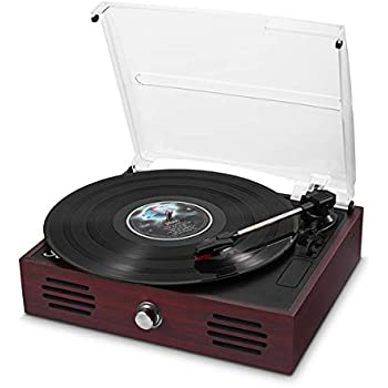 3-SPEED 33//45//78 RPM LP RECORD PLAYER TURNTABLE STEREO SPEAKERS AM//FM RADIO NEW