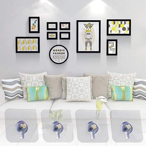 4 Stks/Set Decoratieve Schilderij fotolijst Ophanghaak Badkamer muur Sterke Zuignap Sticking Nagel