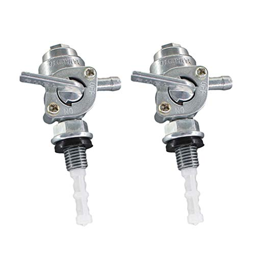 AISEN Pack of 2 Universal Fuel Shut On Off Valve Tap Cock Switch for Generator Gas Engine Fuel Tank 168F 2KW 3KW 6.5KW