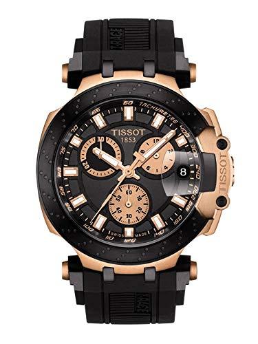 TISSOT Herren Chronograph Quarz Uhr mit Silikon Armband T1154173705100