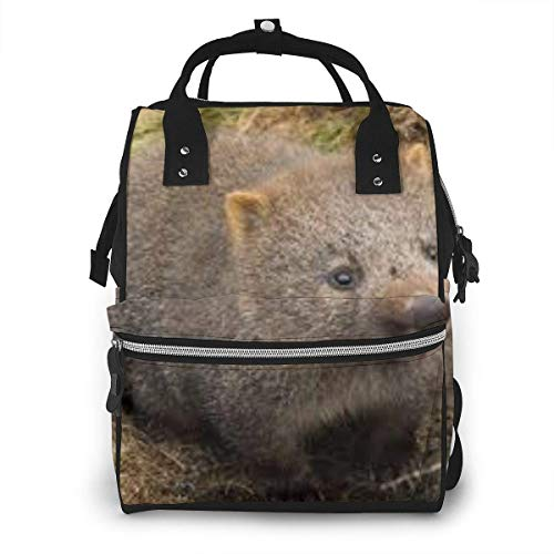 Cradle Mountain Land of Wombat Diaper Bags Fashion Mummy Backpack Multi Functions Large Capacity Nappy Bag Nursing Bag for Baby Care for Traveling