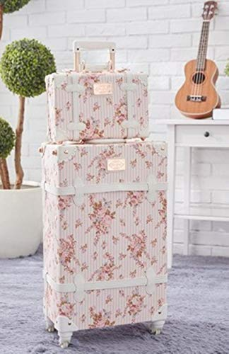 NTR Pink PU Leather Rolling Luggage Set Spinner Suitcase Wheel Cabin Trolley Women's Handbag Travel Bag,pink a set,26'