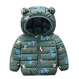 1 unid Invierno otoño bebés niños de algodón Abrigo Ropa de Moda para niños niños (Verde, 120 cm), Chaqueta de Chicas