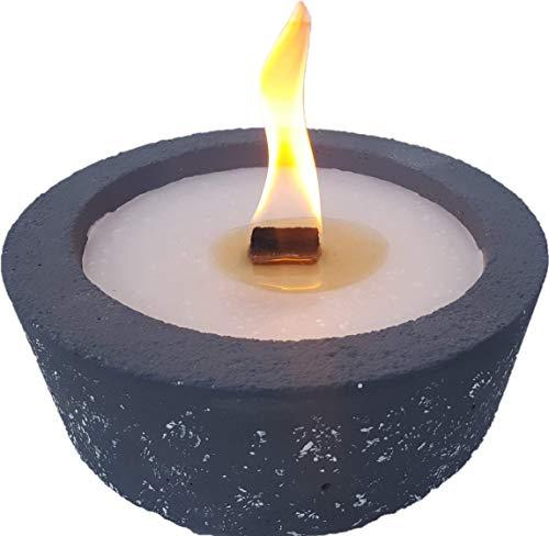 Kleines Balkonfeuer mit Dauerdocht zum Wiederbefüllen mit Kerzenresten - kostenfreier Versand