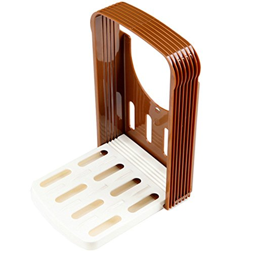 MIXIER Bread Slicer Toast Slicer Toast Cutting Guide Bread Toast Bagel Loaf Slicer Cutter Mold...