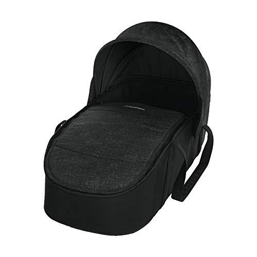 Maxi-Cosi Laika bequem gepolsterte und geräumige Softtragetasche, Kinderwagenaufsatz ab Geburt verwendbar, nomad black