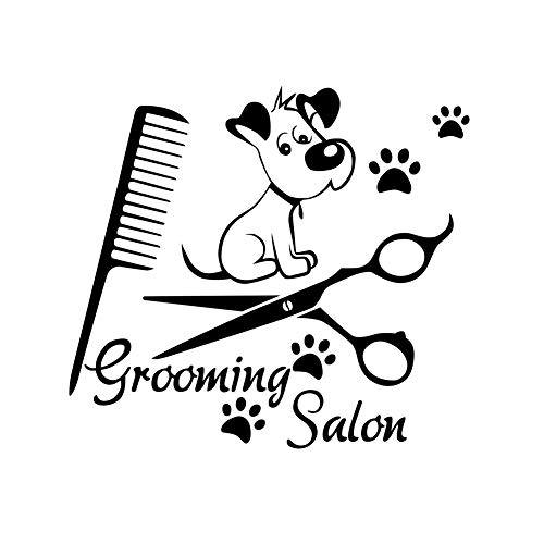 Kililaya Wall Decals Dog Grooming Salon Decal Vinyl Sticker Pet Shop Home Decor Art (DW0104)