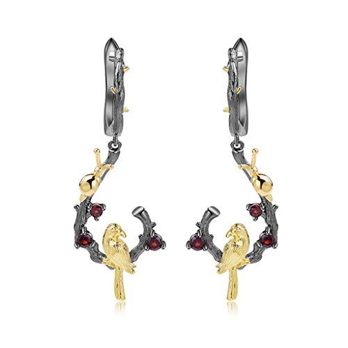 Pendiente de regalo de pájaro pendientes colgantes gota 925 pendientes de caracol de plata para mujeres y niñas de moda de joyería animal regalos encanto pendientes de moda