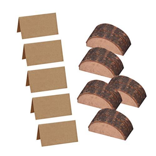 STOBOK Tarjeteros de madera en forma de semicírculo soporte de tarjetero para banquete de boda