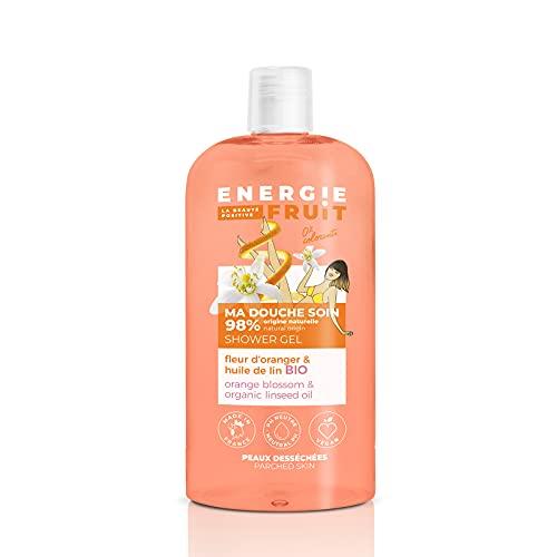 ENERGIE FRUIT   Gel Douche pH Neutre   Fleur d'Oranger & Huile de Lin BIO   Vegan   500ml