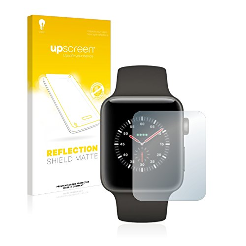 upscreen Entspiegelungs-Schutzfolie kompatibel mit Apple Watch Edition Series 3 (42 mm) – Anti-Reflex Displayschutz-Folie Matt