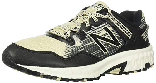 New Balance Men's 410 V6 Trail Running Shoe, Black/Bone, 10.5 XW US