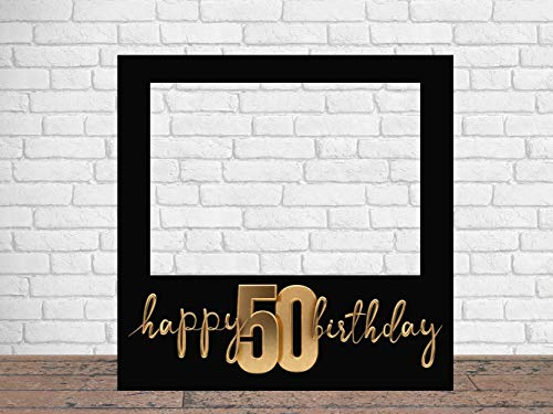 Photocall Feliz 50 Cumpleaños 100 x100 cm | Regalos para Cumpleaños | Photocall Económico y Original | Ideas para Regalos | Regalos Personalizados de Cumpleaños