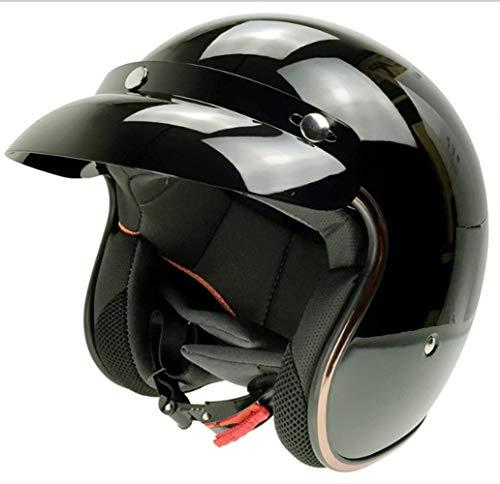 WJH Casco eléctrico de Motocicleta, Medio Casco Retro Estilo Harley Puede equiparse...