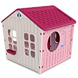 ODG Casa de juegos rosa para niños, casa, jardín, grande