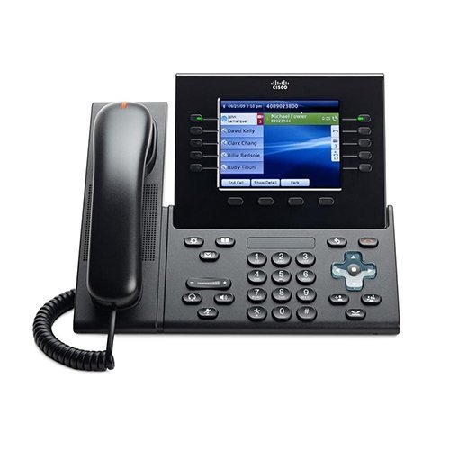 "Cisco IP Phone Charcoal CP-8961-CL-K9 (5"" Color Display, Slimline Handset, XML Applications,HD Voice, POE, Requires Cisco Communications Manager)"