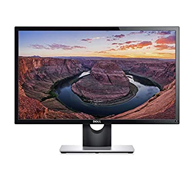 Dell SE2416H 24 Inch Full HD (1920 x 1080) Monitor, 60 Hz, IPS, 6 ms, Thin Bezel, HDMI, VGA, 3 Years Warranty, Black
