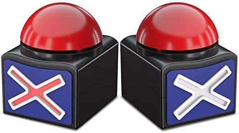 Beanlieve Game Buzzers with Sound 2 Pack Buzzer Button with Lights Game Show Buzzers for Kids product image