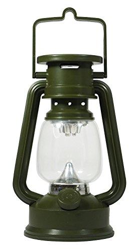 SE 15 LED Hurricane Lantern with Dimmer Switch, Green - FL807-15GR