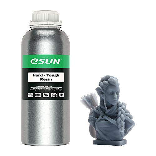 eSUN Resina ABS-Like UV 405nm Resina Rápida para Impresora 3D LCD Curado UV Resina Alta Dureza y Tenacidad Resina de Fotopolímero Líquida de Impresión 3D, 1000g Gris
