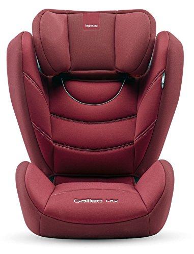 Inglesina Galileo I-Fix Seggiolino Auto, Gruppo 2/3 (15-36kg), per Bambini dai 3 a 12 Anni circa, Rosso