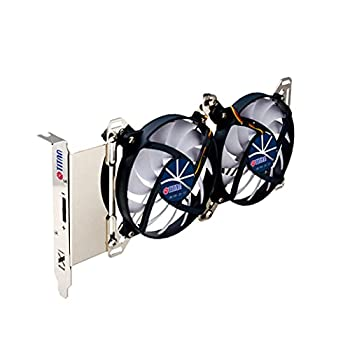 TITAN- 12V DC Adjustable Dual X Houlder with Two Fans for PCI Slot VGA Cooling or DIY Mounting Ventilation Fan