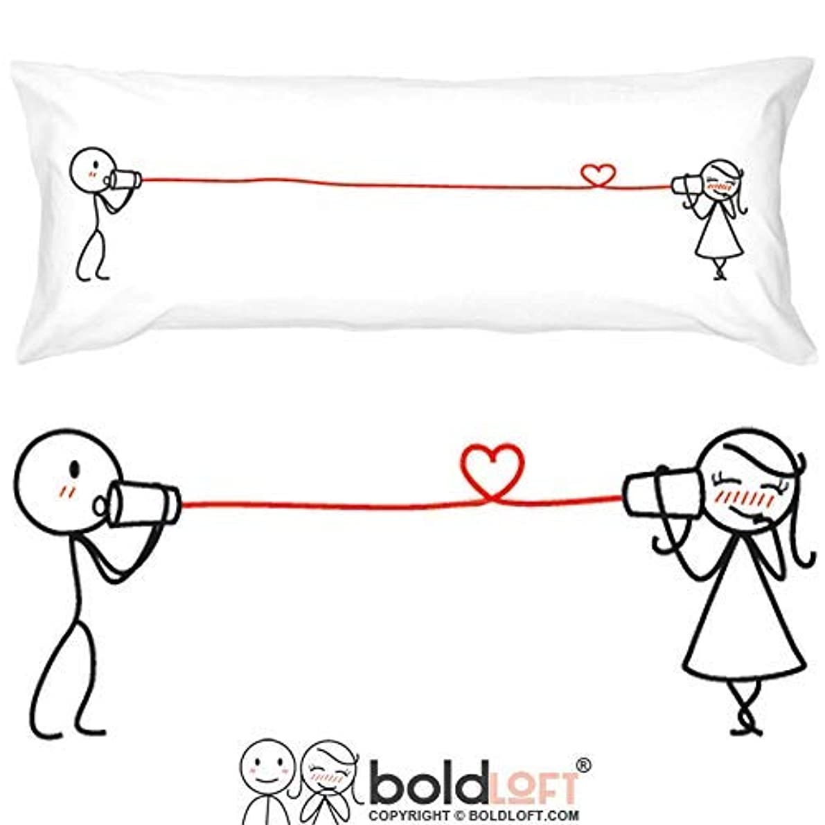 BoldLoft Say I Love You Body Pillowcase-Romantic Valentines Gifts for Couples,Cute Birthday Gifts for Him & Her,His and Hers Gifts for Couples,Romantic