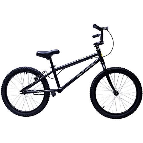 Bicicleta sin pedales Bici Balance Bike For Big Kid Adult - Bicicleta Negra con Freno de Mano, neumático de Aire de 50 cm (20 Pulgadas)