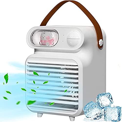 Uniqueheart Ventilatore Portatile da Tavolo USB Squisito condizionatore d'Aria Ventilatore Silenzioso per Uso Domestico Raffreddatore d'Aria con Ventilatore Piccolo e Durevole
