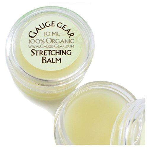 Gauge Gear Vegan Organic Ear Stretching Balm Cream Lube Plugs Taper .34oz