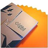 Folded Square Origami – Papel Naranja de origami | 100 Hojas, 15cm Cuadrado | Pantone 021
