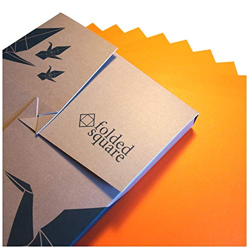 Folded Square Origami – Papel Naranja de origami   100 Hojas, 15cm Cuadrado   Pantone 021