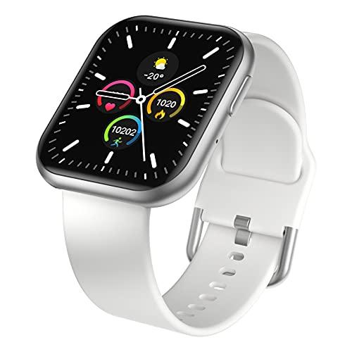 BNMY Smartwatch para Hombres, Mujeres, Llamada Bluetooth, Rastreador De Ejercicios, Monitor De Presión Arterial Monitor De Frecuencia Cardíaca, Compatible con Teléfonos iOS Y Android,B