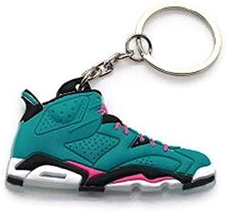 b7033cd60e06e0 Air Jordan Shoe Key Chain Generation 6 VI Teal Black Pink White Colors B58