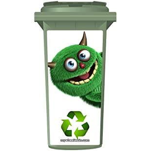 The Shaggy Recycling Monster Wheelie Bin Sticker Panel Small