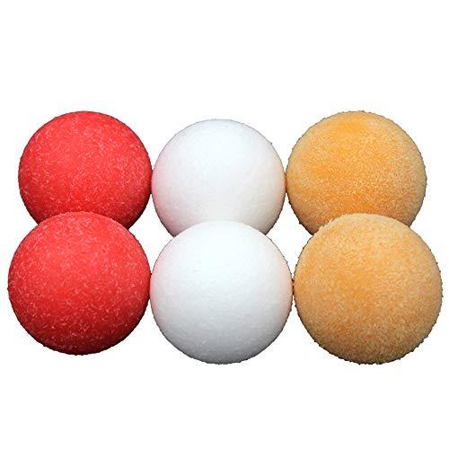 COSDDI 6 Stücke Rot Foosballs Bälle 36mm Offizielle Foosballs Bälle für Standard-Foosball-Tische und Klassische Tischfußball-Spiele