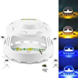 Phosooy Mosquito Trap, 4-in-1 Electric Pest Trap with 5 Sticky Board Refills, Night Light Dome Flea Trap Killer Works on Fleas, Moths, Mosquitoes for Indoor Use, Children Pets Safe