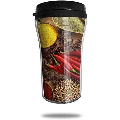 Specerijen Kruiden Rode Peper Reizen Koffie Mok Gedrukt Draagbare Vacuüm Beker, Geïsoleerde Thee Cup Water Fles Tumblers voor Drinken
