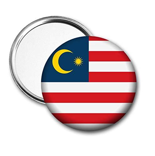 Maleisië Vlag Pocket Spiegel voor Handtas - Handtas - Cadeau - Verjaardag - Kerstmis - Stocking Filler - Secret Santa