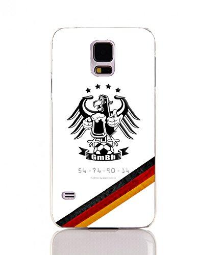 Mickie Krause 1123069 Hacke - Carcasa para Samsung Galaxy S 5, diseño de Bandera Alemana con águila, Jarra de Cerveza y 4 Estrellas