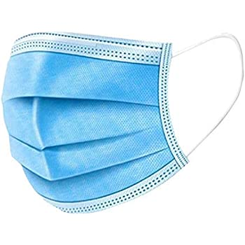 Disposable Mask,50 Count 3 Ply Disposable Earloop Face Masks Earloop Woven Masks Nose Allergy Dust Mask Filter Mask