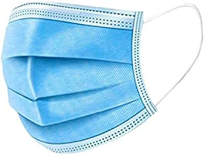 Disposable Mask,50 Count 3 Ply Disposable Earloop Face Masks